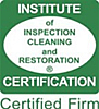 Certificate from the Institute Of Inspection Cleaning and Restoration
